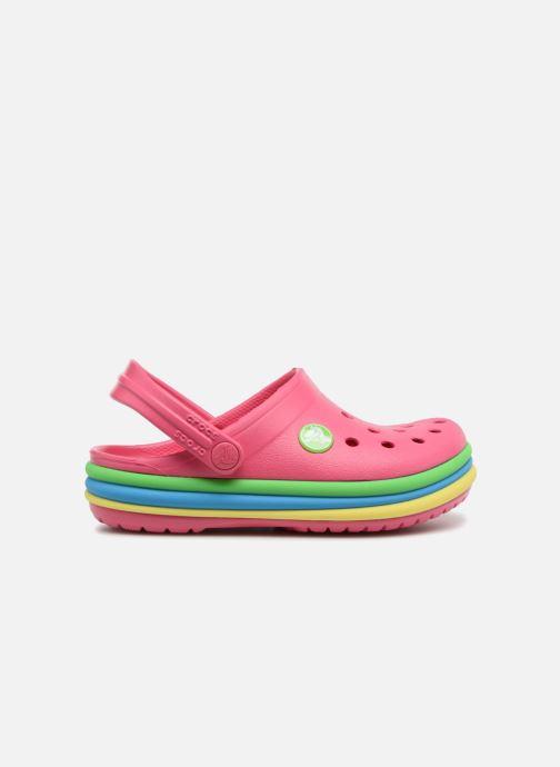 Sandals Crocs CB Rainbow Band Clog Kids Pink back view