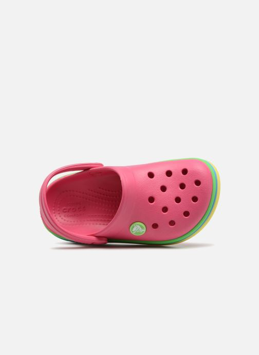 Sandals Crocs CB Rainbow Band Clog Kids Pink view from the left