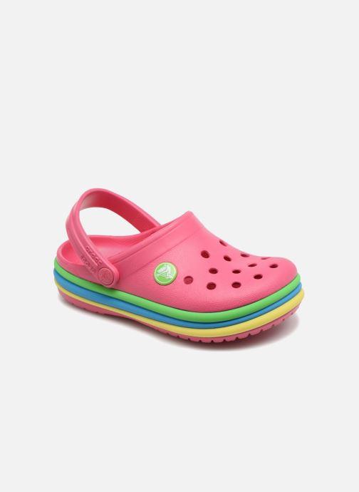 Sandalias Crocs CB Rainbow Band Clog Kids Rosa vista de detalle / par