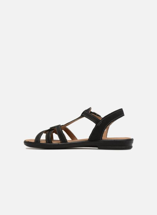 Sandals Ricosta Birte Black front view