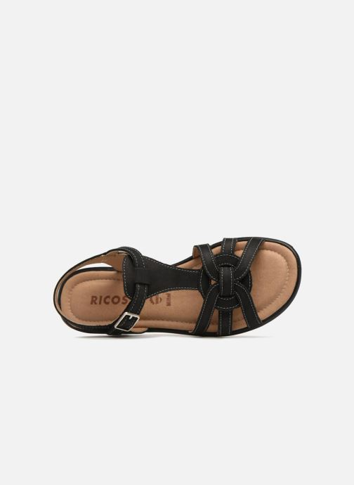 Sandals Ricosta Birte Black view from the left