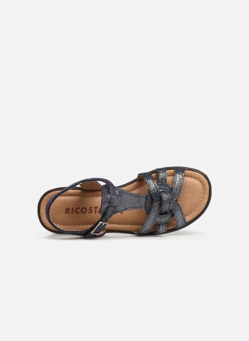 Sandalias Ricosta Birte Azul vista lateral izquierda