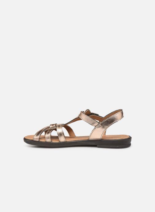 Sandales et nu-pieds Ricosta Birte Or et bronze vue face
