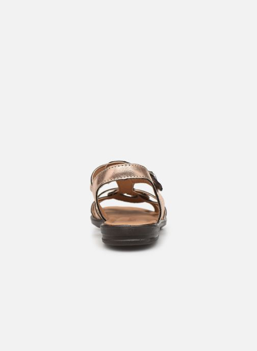 Sandales et nu-pieds Ricosta Birte Or et bronze vue droite