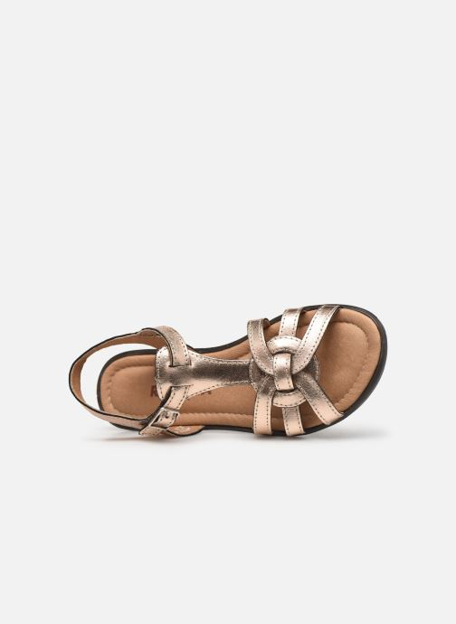 Sandals Ricosta Birte Bronze and Gold view from the left