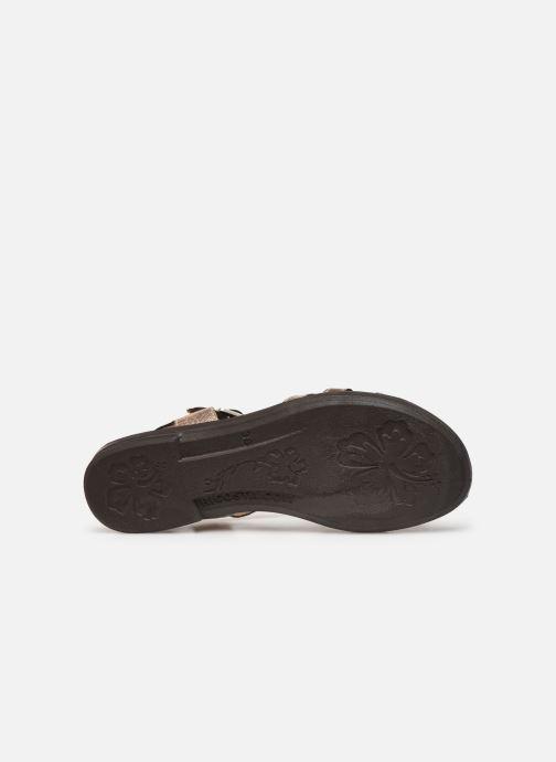 Sandales et nu-pieds Ricosta Birte Or et bronze vue haut