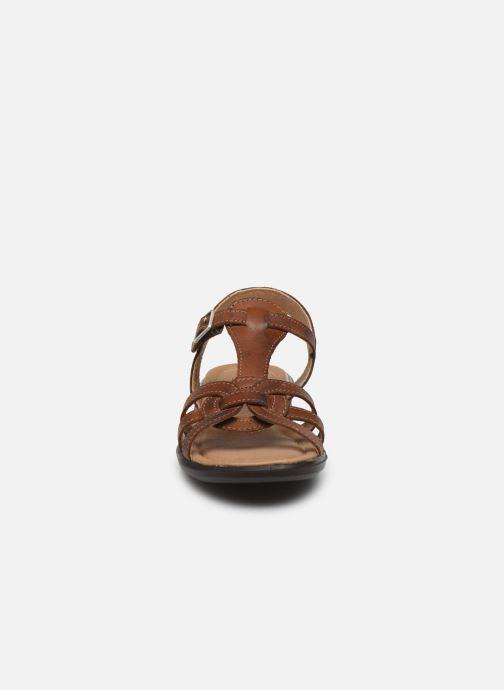 Sandales et nu-pieds Ricosta Birte Marron vue portées chaussures