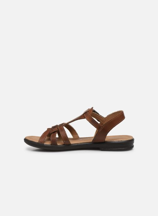 Sandales et nu-pieds Ricosta Birte Marron vue face