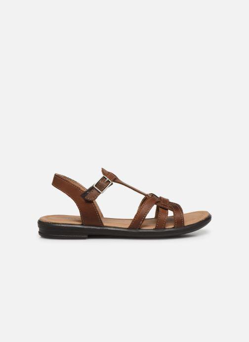 Sandales et nu-pieds Ricosta Birte Marron vue derrière