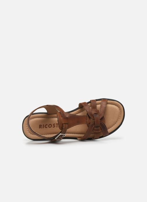 Sandales et nu-pieds Ricosta Birte Marron vue gauche