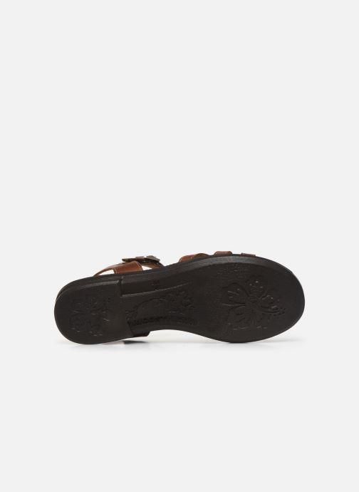 Sandales et nu-pieds Ricosta Birte Marron vue haut