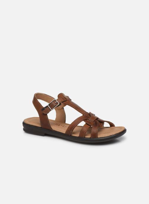 Sandales et nu-pieds Ricosta Birte Marron vue détail/paire