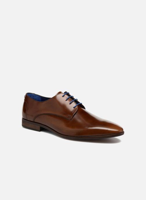 Snøresko Azzaro Valmi Brun detaljeret billede af skoene
