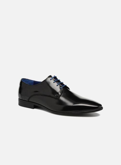 Snøresko Azzaro Valmi Sort detaljeret billede af skoene