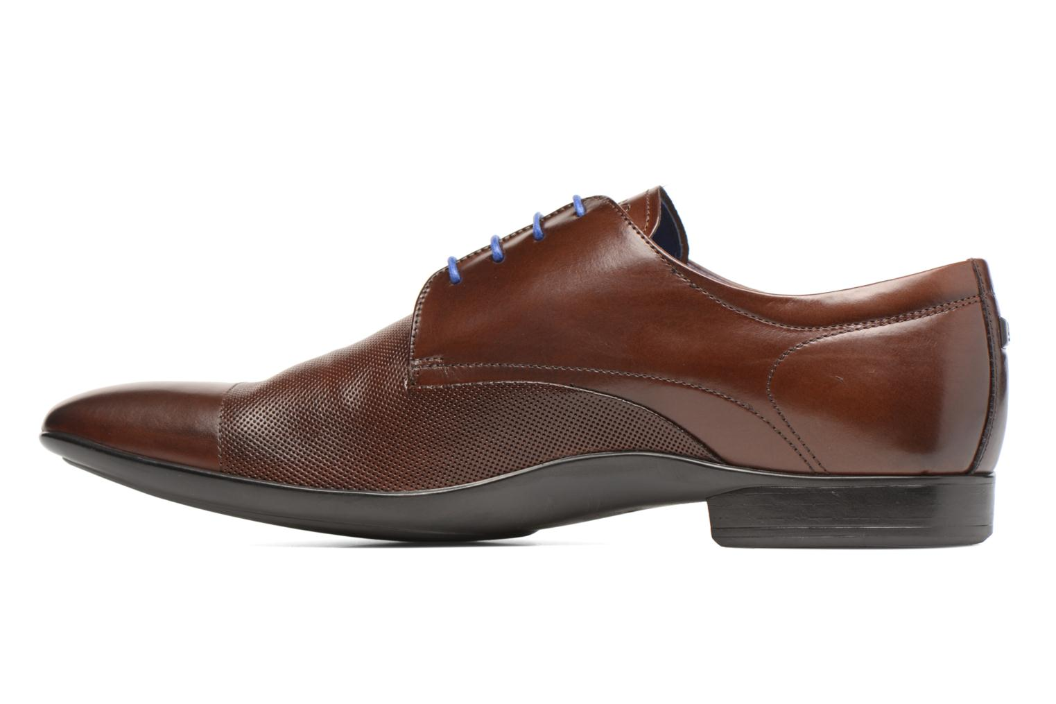 Lace-up shoes Azzaro Piroman Brown front view