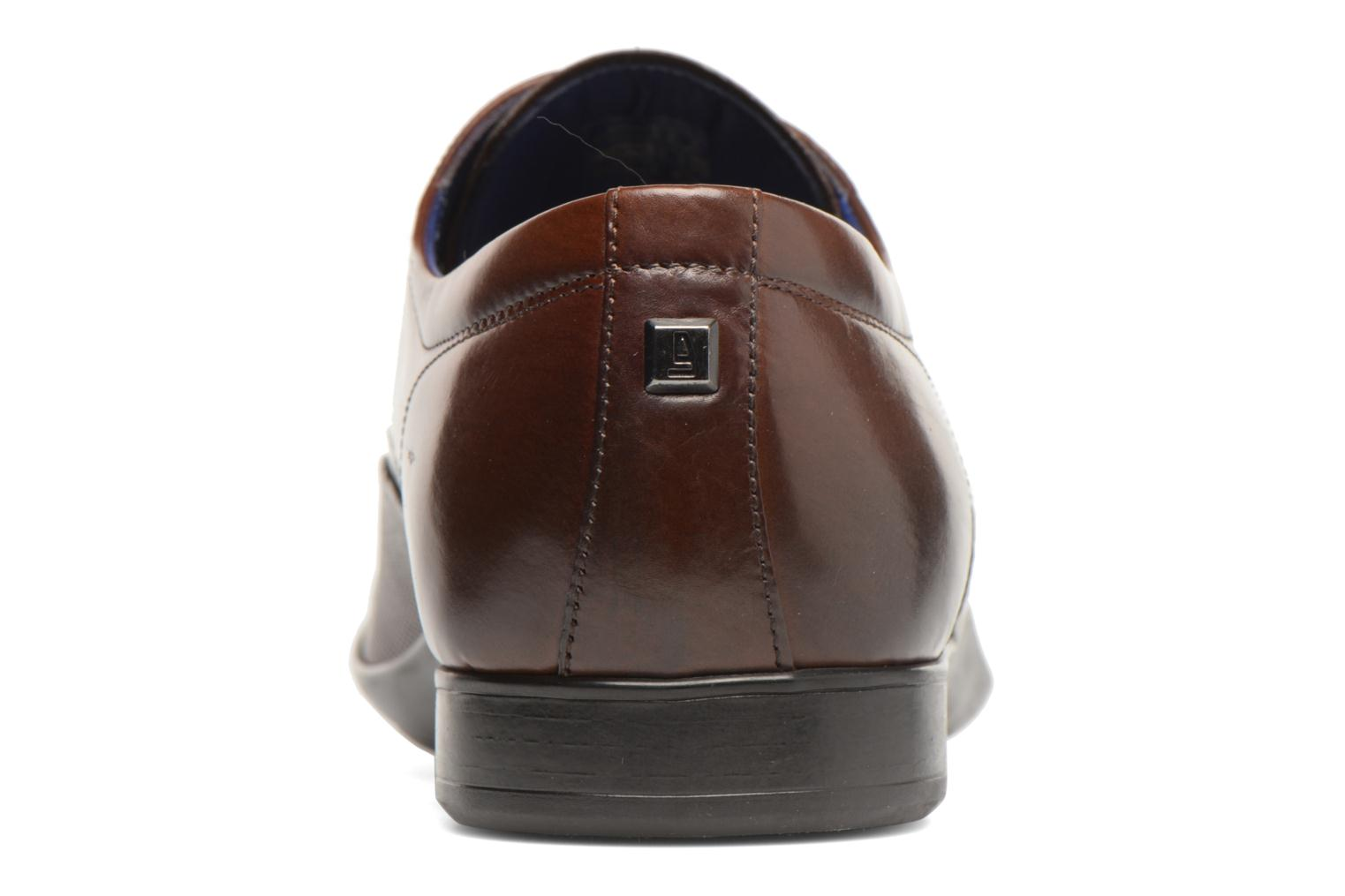 Lace-up shoes Azzaro Piroman Brown view from the right
