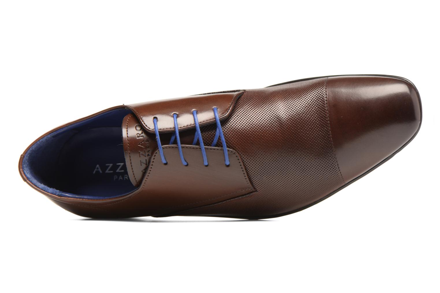 Lace-up shoes Azzaro Piroman Brown view from the left