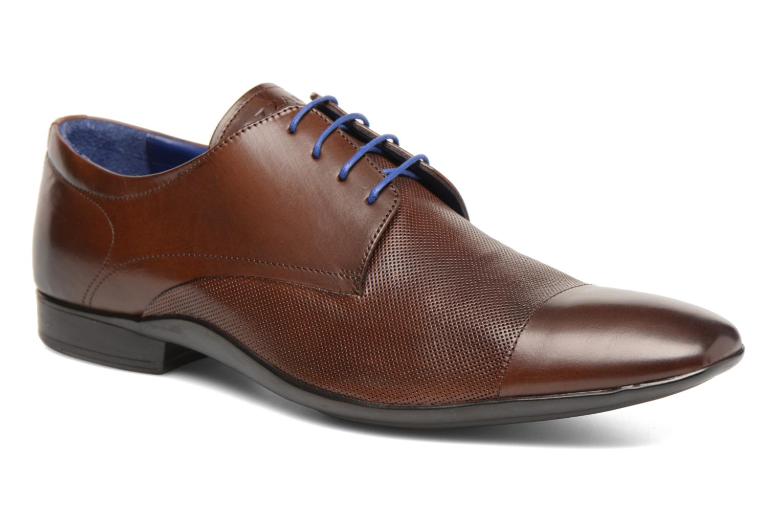 Lace-up shoes Azzaro Piroman Brown detailed view/ Pair view
