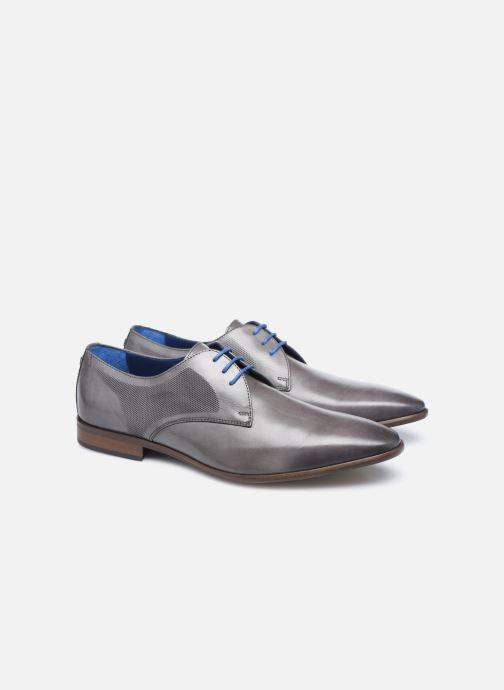 Zapatos con cordones Azzaro Verdol Gris vista 3/4