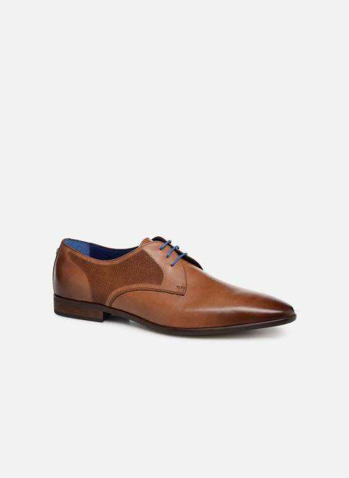 Snøresko Azzaro Verdol Brun detaljeret billede af skoene