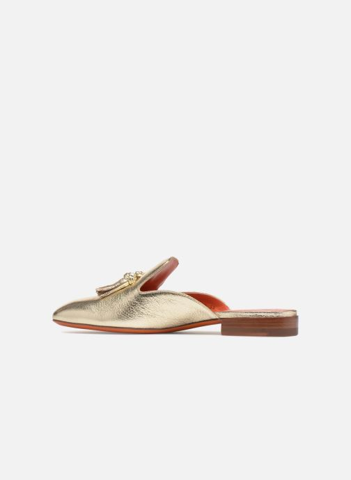 Mules & clogs Santoni Victoria Bronze and Gold front view