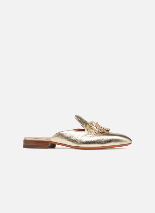 Mules & clogs Santoni Victoria Bronze and Gold back view
