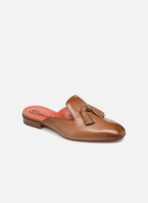 Mules & clogs Santoni Victoria Brown detailed view/ Pair view