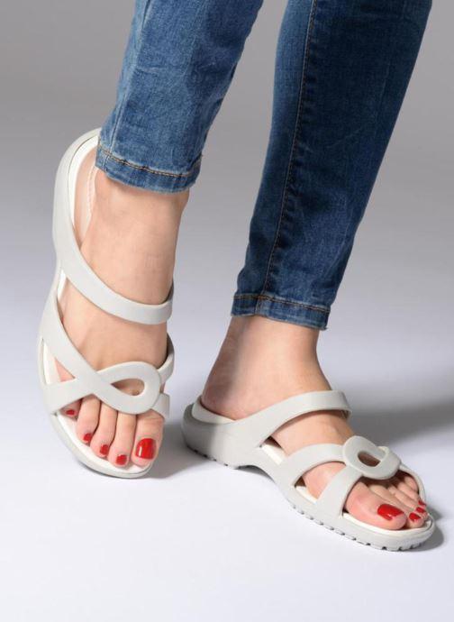 Mules et sabots Crocs Meleen Twist Sandal W Blanc vue bas / vue portée sac