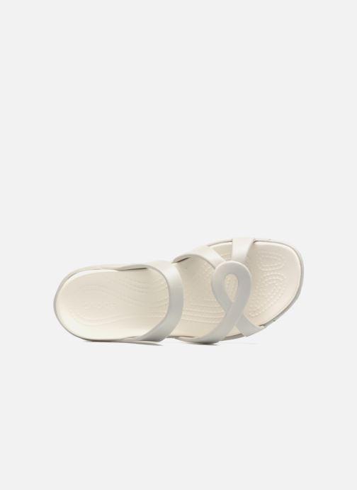 Mules et sabots Crocs Meleen Twist Sandal W Blanc vue gauche
