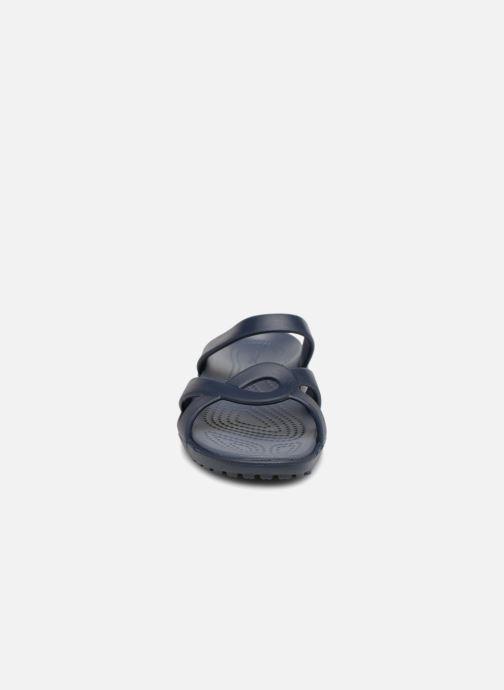 Mules et sabots Crocs Meleen Twist Sandal W Bleu vue portées chaussures