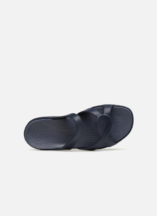 Mules et sabots Crocs Meleen Twist Sandal W Bleu vue gauche