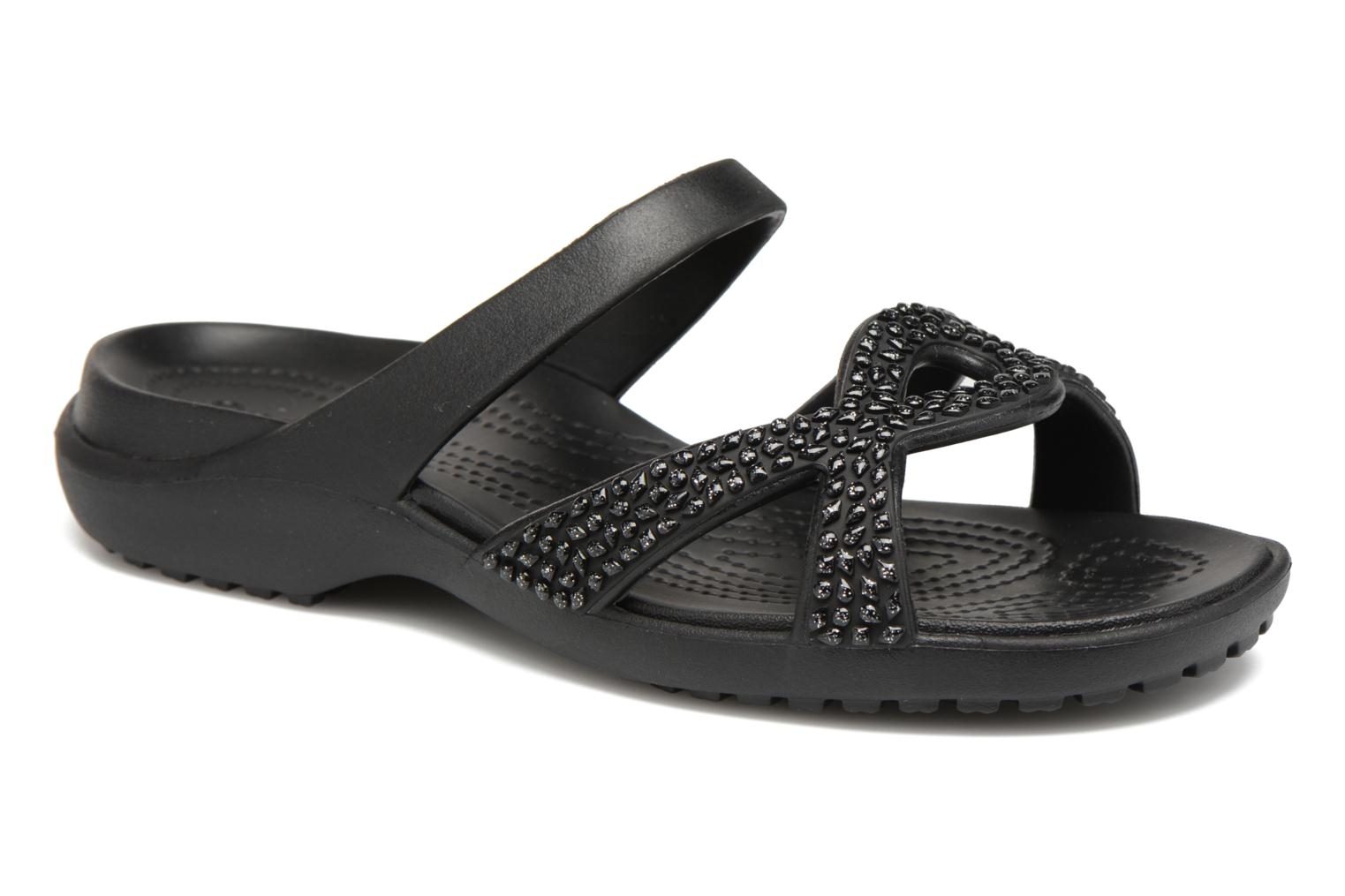0d482710dfb2 ... Mules clogs Crocs Meleen Twist Diamante Sandal Black detailed view Pair  view later e30bd d361e  Crocs Womens Cleo Exclusive Sandals ...