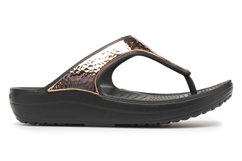 Tongs Crocs Sloane Hammered Met Flip W Or et bronze vue derrière