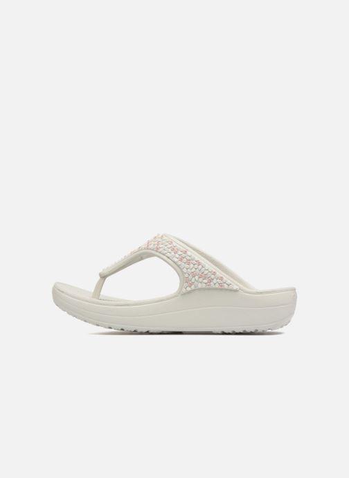 Wedges Crocs Sloane Embellished Flip Grijs voorkant