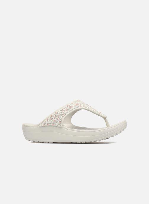 Wedges Crocs Sloane Embellished Flip Grijs achterkant