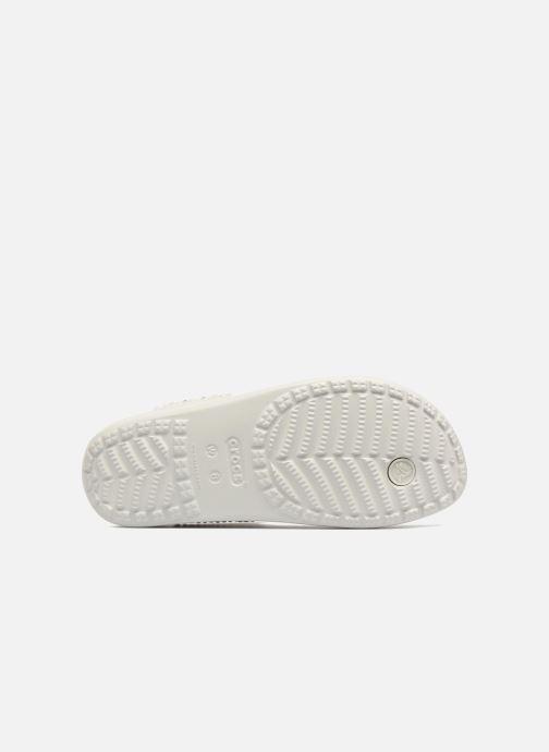 Mules et sabots Crocs Sloane Embellished Flip Gris vue haut