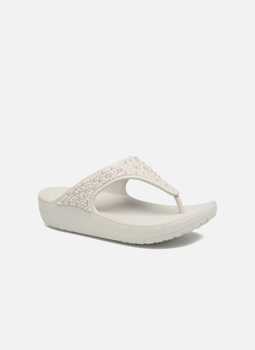 Wedges Crocs Sloane Embellished Flip Grijs detail