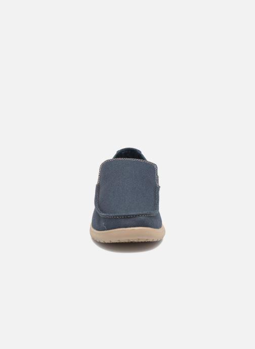 Loafers Crocs Santa Cruz Clean Cut Loafer Blue model view