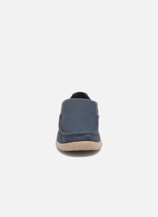 Mocassins Crocs Santa Cruz Clean Cut Loafer Bleu vue portées chaussures