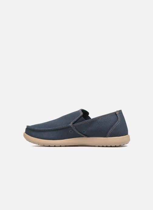 Mocassins Crocs Santa Cruz Clean Cut Loafer Bleu vue face