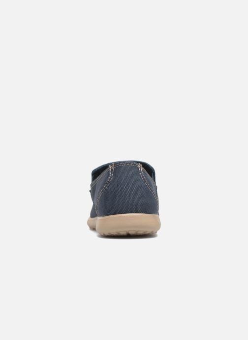 Mocassins Crocs Santa Cruz Clean Cut Loafer Bleu vue droite