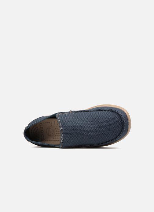 Mocassins Crocs Santa Cruz Clean Cut Loafer Bleu vue gauche