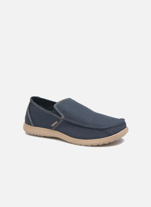 Mocassins Crocs Santa Cruz Clean Cut Loafer Bleu vue détail/paire