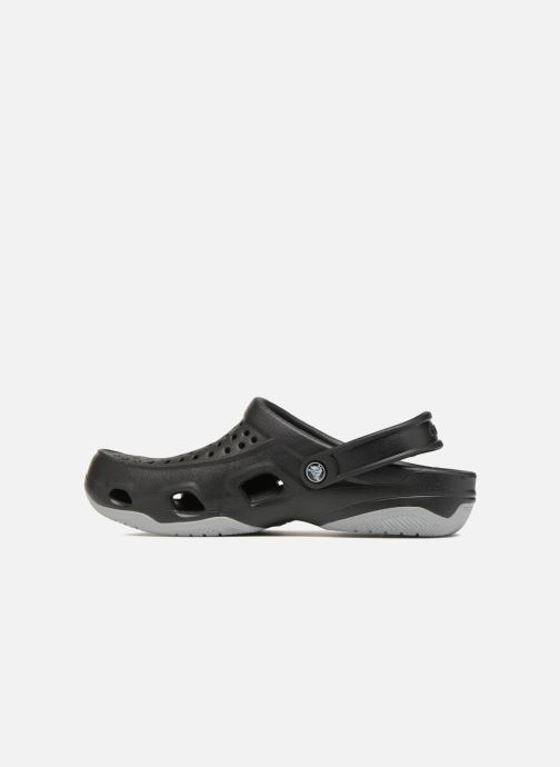 Sandalias Crocs Swiftwater Deck Clog M Negro vista de frente