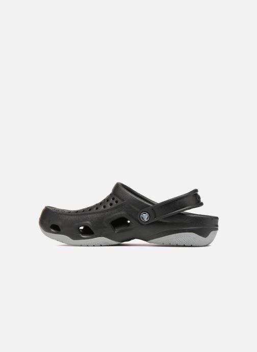 Sandalias Crocs Swiftwater Deck Clog M Negro vista de frente