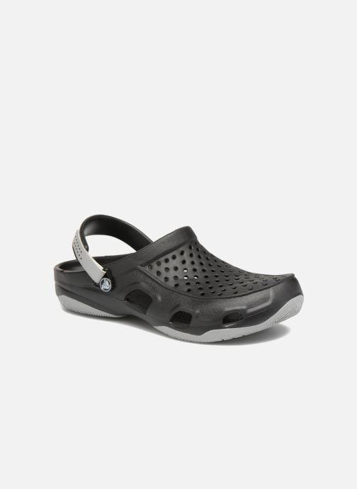 Sandalias Crocs Swiftwater Deck Clog M Negro vista de detalle / par