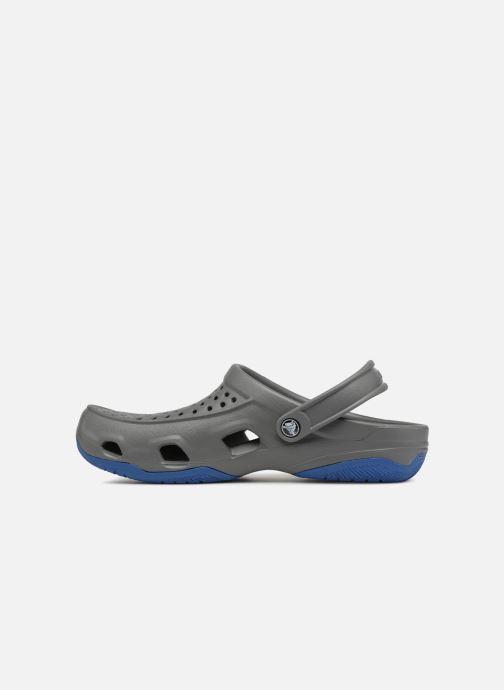 Sandales et nu-pieds Crocs Swiftwater Deck Clog M Gris vue face