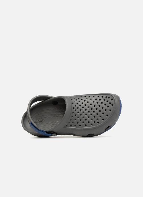 Sandales et nu-pieds Crocs Swiftwater Deck Clog M Gris vue gauche