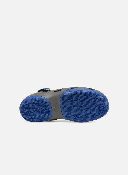 Sandales et nu-pieds Crocs Swiftwater Deck Clog M Gris vue haut