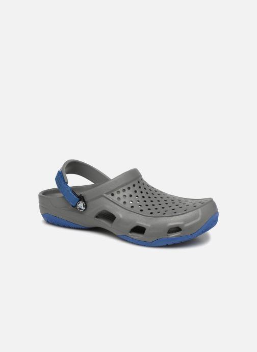 Sandales et nu-pieds Crocs Swiftwater Deck Clog M Gris vue détail/paire